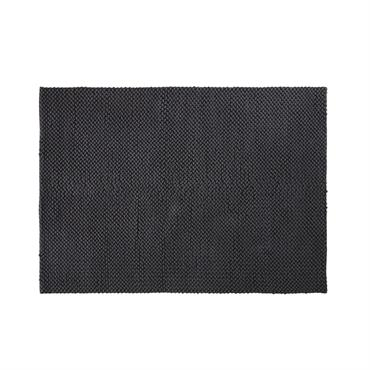 Tapis en coton tressé gris anthracite 160x230