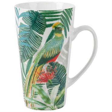 Mug en porcelaine imprimé tropical