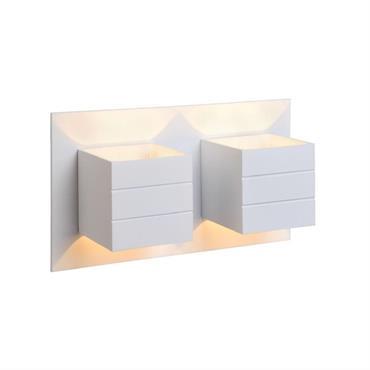 Applique murale 2 lumières métal blanc L26cm