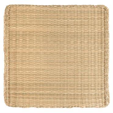 Set de table carré en fibre végétale tressée