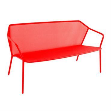 Banquette Darwin / Résille métal - L 140 cm - Emu rouge