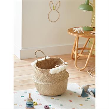 Panier à jouets, bac à linge, porte-revues, cache-pot... Offrez à ce panier à pompons la plus belle des vies au sein de votre foyer. L'astuce en plus : il se ...