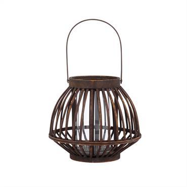 Lanterne en bambou noir D24