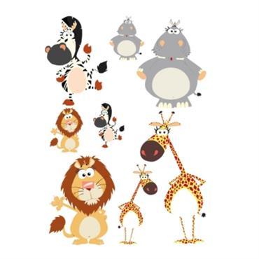 Stickers bébé les animaux de la savane 100x72 cm