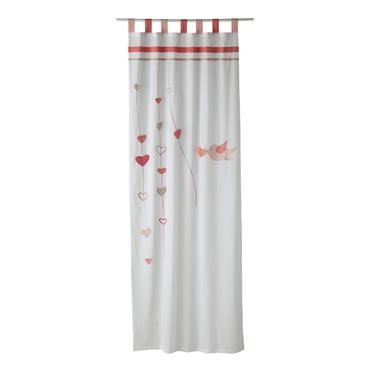 Craquez pour le rideau à passants en coton blanc et rose et mettez une belle note de tendresse dans la chambre de votre petite fille ! Mêlant le rose et ...