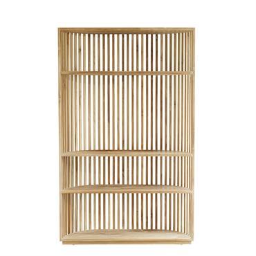 Bibliothèque en bois de teck ouverte 3 étagères