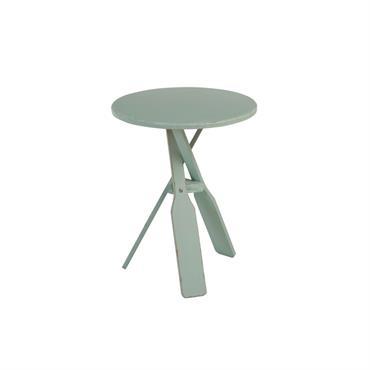 Table de chevet minimaliste en bois Bleu