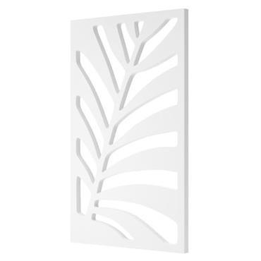 Paravent Serralunga design Blanc en Matière plastique. Dimensions : L 150 cm x larg. 90 cm x Prof. 5 cm. Inspiration végétale pour ce paravent ajouré qui reproduit une feuille ...