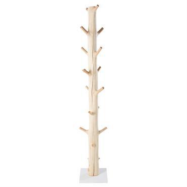 Porte-manteau tronc d'arbre en mangoustanier