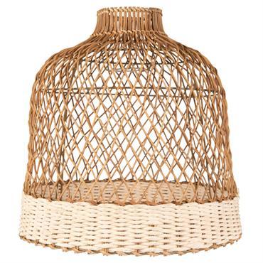 Abat-jour pour suspension en coton et bambou tressés