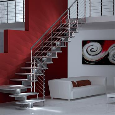 Escalier en métal gris