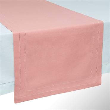 Chemin de table en coton rose L