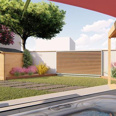 Des clients ont fait appel à nous afin d'aménager leur jardin et d'y incorporer un studio de 20m² et un ... Domozoom