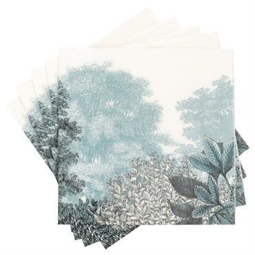 Serviettes en papier imprimé paysage d'hiver