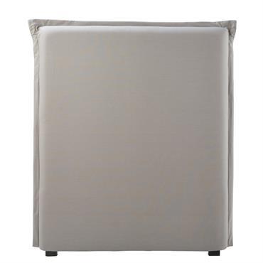 Housse de tête de lit 90 en coton gris