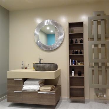 Salle de bain design exotique