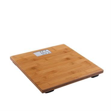 Pèse-personne électronique bambou en bambou marron