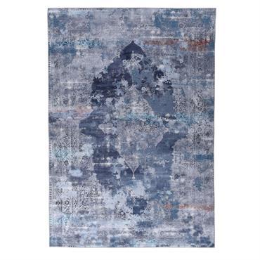 Tapis imprimé en motif vintage bleu 160x230