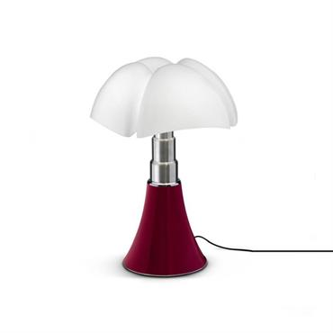 Lampe dimmer touch LED rouge H35cm