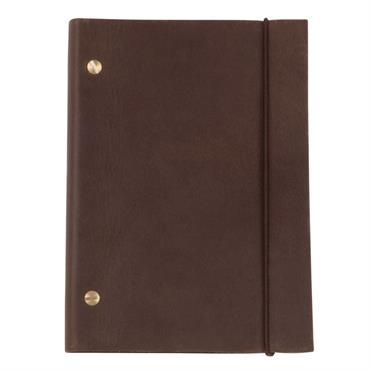 Carnet de notes en cuir marron