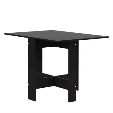 Table  effet bois Noir et noir