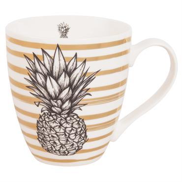 Mug en porcelaine imprimé ananas
