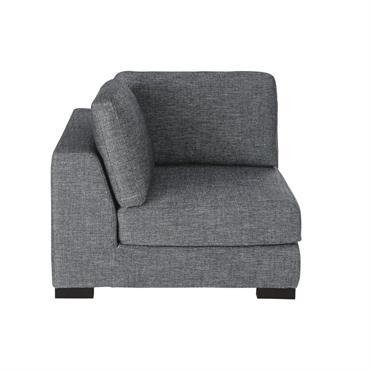 Angle de canapé gris foncé chiné Terence
