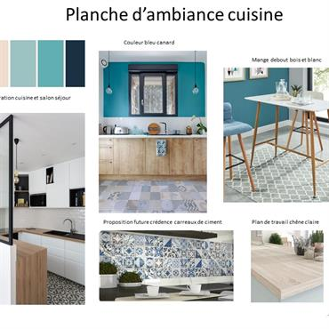 Coaching décoration pour une cuisine en harmonie avec le salon séjour. Installation d'une verrière pour plus de lumiere dans la ... Domozoom