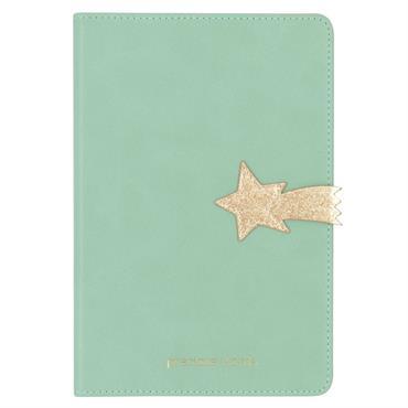 Carnet de notes en velours bleu