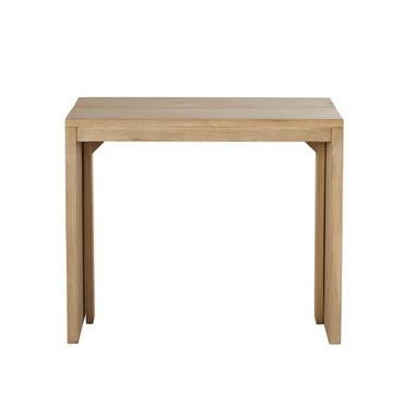 Table console extensible en manguier 6 personnes L40/160 Alagaos