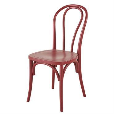 Pas de doute : la chaise en hêtre rouge boostera la déco de votre espace repas ! Entièrement conçue en hêtre, un bois apprécié pour sa résistance et sa solidité, ...