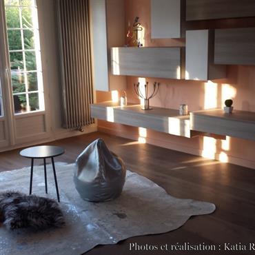 Projet en cours: Aménagement d'une maison style Ile de France dans un style contemporain mêlant design italien et touches 50's.  Domozoom