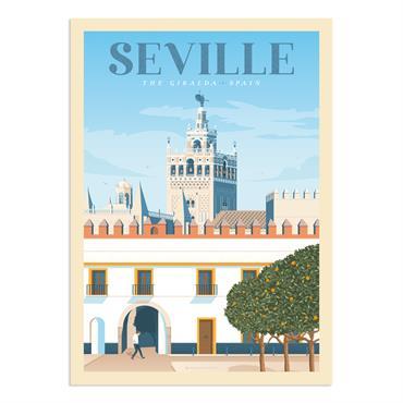 Affiche Seville  30x40 cm