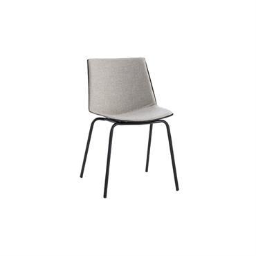 Chaise salle à manger design bi matières HARONA