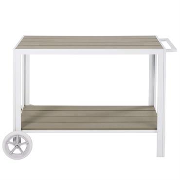 Desserte d'extérieur en aluminium blanc Escale