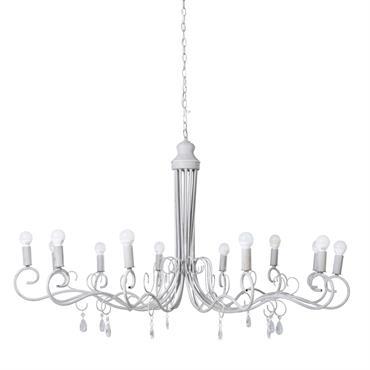 Pour illuminer un intérieur classique tout en introduisant une petite note tendance, découvrez le lustre 12 branches en métal gris VICTORINE. Orné de pampilles, il se compose d'une suspension en ...