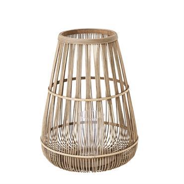 Lanterne en bambou et verre H60