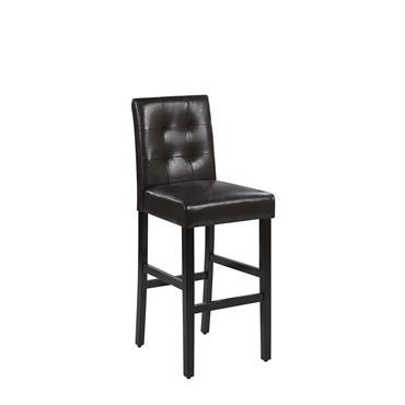 Chaise de bar en cuir brun