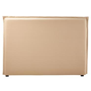 Housse de tête de lit 160 en coton beige