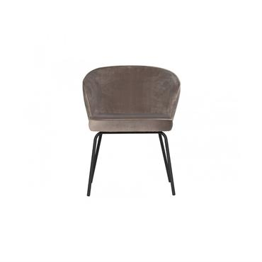 Chaise moderne velours Taupe