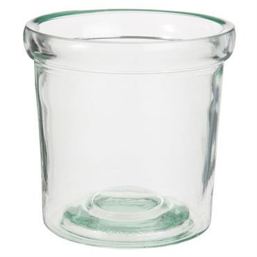 Pot en verre teinté vert