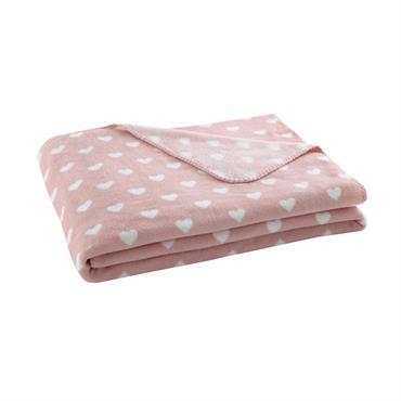 Couverture bébé rose 130 x 170 CUR