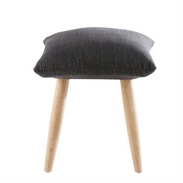 Le tabouret gris anthracite et pieds en hévéa MARVIN mixe parfaitement originalité et tendance. Son assise en textile gris se présente sous la forme d'un coussin, tandis que ses pieds ...