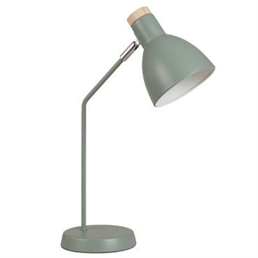 Lampe en métal vert