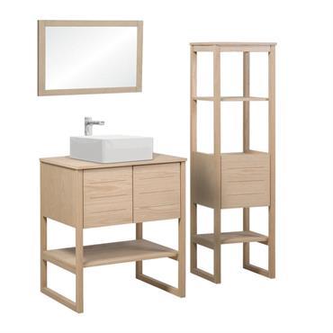 Meuble de salle de bain avec colonne