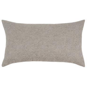 Housse de coussin en coton gris 30x50
