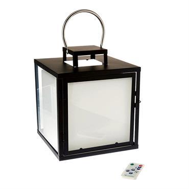 LANTERNE LED : Heavy C23 est une lanterne sans fil LED blanc froid / blanc chaud / multicolore avec intensité variable. Cette lampe à poser se distingue par son design ...