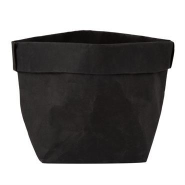 Corbeille en papier noir