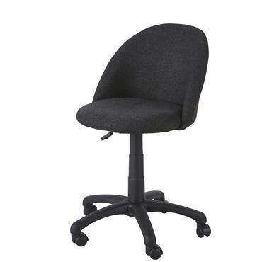 Chaise de bureau enfant à roulettes gris anthracite Mika