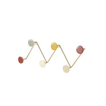Patère 6 crochets en métal multicolore